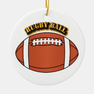 Rugby Ball with Text Christmas Ornament