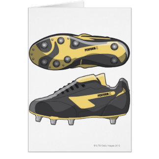 Rugby boots greeting card