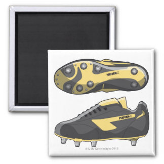 Rugby boots square magnet