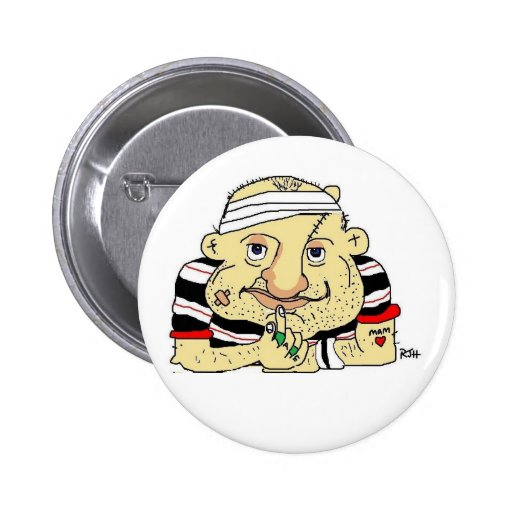 RUGBY BUTTON OR BADGE