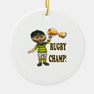 Rugby Champ Christmas Ornament