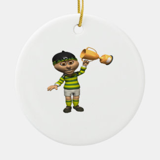 Rugby Champion Christmas Ornament