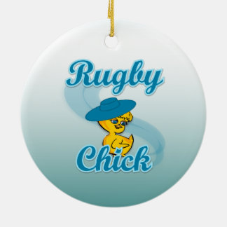 Rugby Chick #3 Christmas Ornament