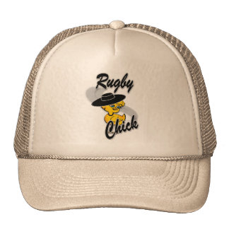 Rugby Chick #4 Trucker Hat