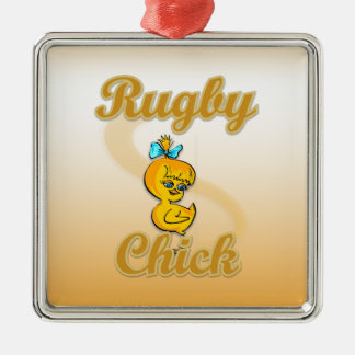 Rugby Chick Christmas Ornament