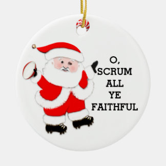 Rugby Christmas Christmas Ornament