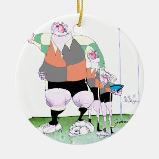 Rugby chums, tony fernandes christmas ornament