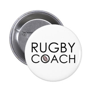 Rugby Coach 6 Cm Round Badge