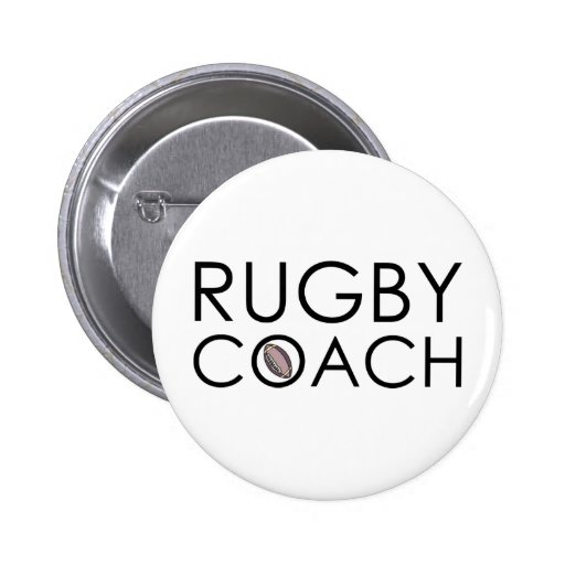 Rugby Coach Pinback Button