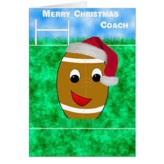 rugby coach christmas card
