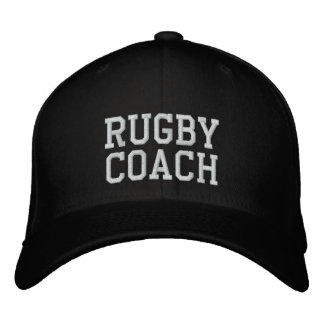 Rugby Coach Embroidered Baseball Cap