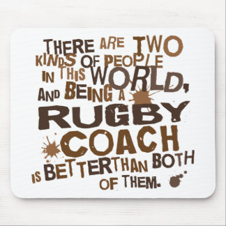 Rugby Coach Gift Mouse Mat