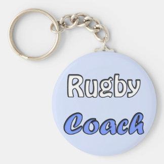 Rugby coach key ring