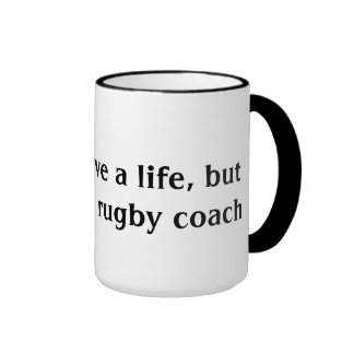Rugby Coach Ringer Coffee Mug