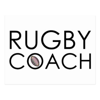 Rugby Coach Postcard