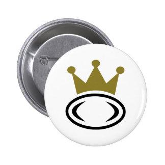 Rugby crown champion 6 cm round badge