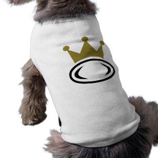 Rugby crown champion sleeveless dog shirt