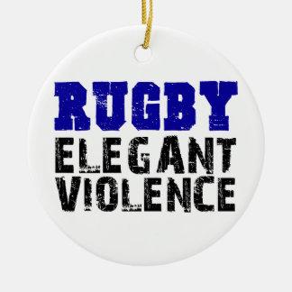Rugby Round Ceramic Decoration
