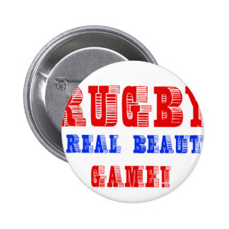 Rugby design pinback buttons