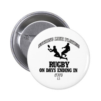 RUGBY designs Pinback Buttons