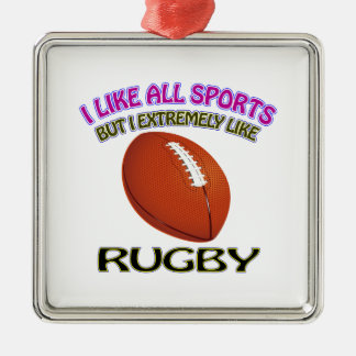 Rugby designs christmas ornament