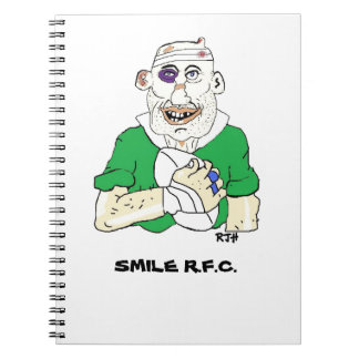 rugby designs spiral notebook