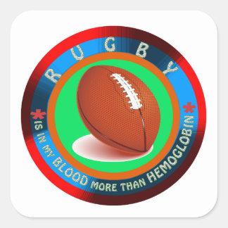 Rugby designs square sticker