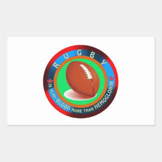 Rugby designs rectangular sticker