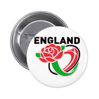 Rugby England English Rose Ball 6 Cm Round Badge