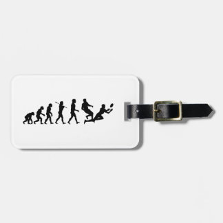 Rugby Evolution Fun Sports Luggage Tag