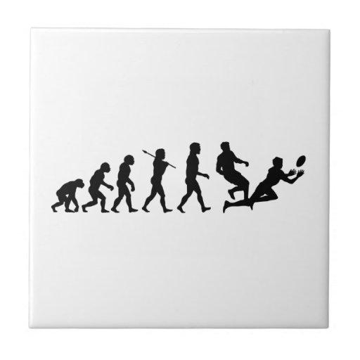 Rugby Evolution Fun Sports Ceramic Tiles