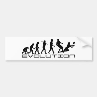 Rugby Football Sport Evolution Art Bumper Sticker