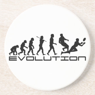 Rugby Football Sport Evolution Art Coaster