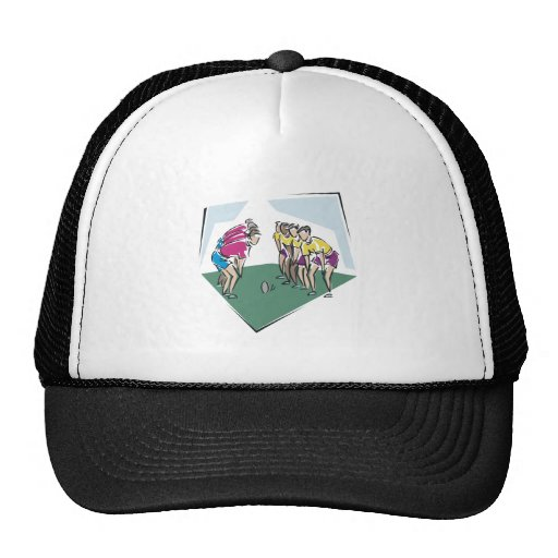 Rugby Game Mesh Hats