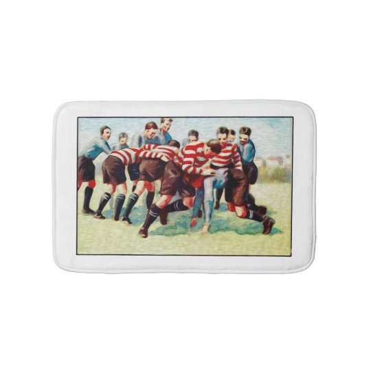 Rugby Game Small Bath Mat