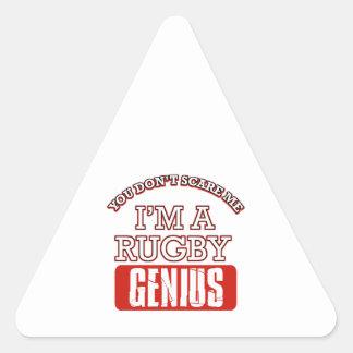 rugby genius triangle sticker