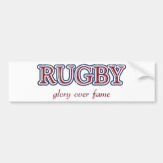 Rugby Glory Over Fame Distressed | U.S. Custom Ink Bumper Sticker