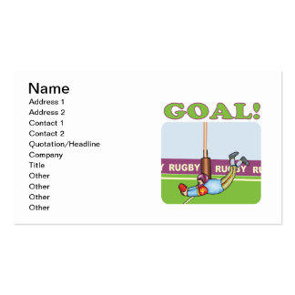 Rugby Goal 2 Pack Of Standard Business Cards