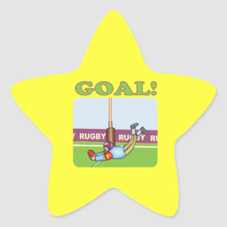 Rugby Goal 2 Star Sticker