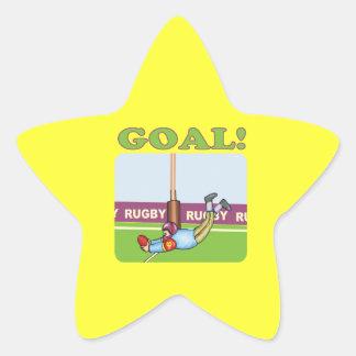 Rugby Goal 2 Star Sticker