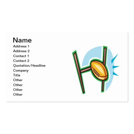 Rugby Goal Business Cards