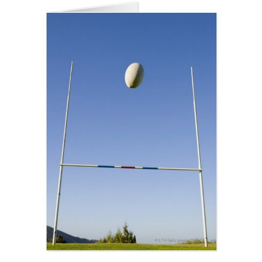 Rugby Goal Greeting Cards