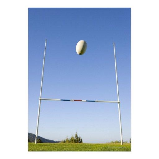 Rugby Goal Custom Invite