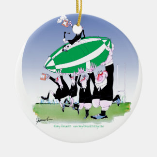 rugby hakka 3 cheers, tony fernandes christmas ornament