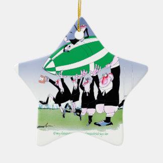 rugby hakka 3 cheers, tony fernandes christmas ornament