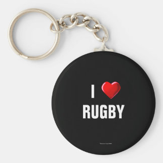 Rugby: I Love Rugby keychain