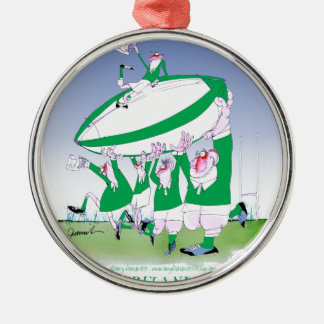 rugby irish cheers, tony fernandes christmas ornament