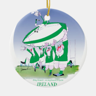 rugby irish cheers, tony fernandes round ceramic decoration