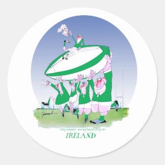 rugby irish cheers, tony fernandes round sticker