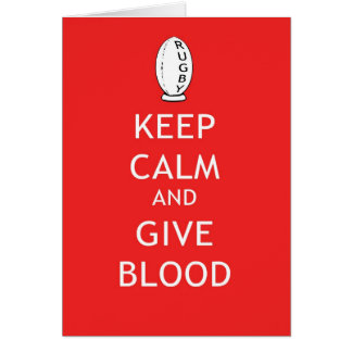 Rugby - Keep Calm & Give Blood Card
